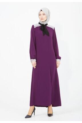 Setrms Pul Payet Detylı Kravat Yaka Elbise