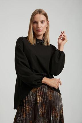 Batik A1054 Dkm Duz Casual Bluz Sıyah
