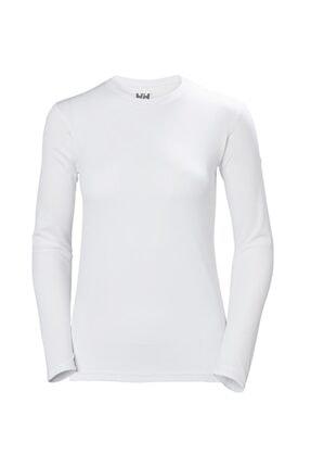 Helly Hansen W Tech Crew Kadın Uzun Kollu T-shirt Beyaz