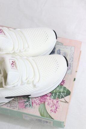 Guja - 21y300-6 Beyaz Fileli Air Taban Kadın Sneakers