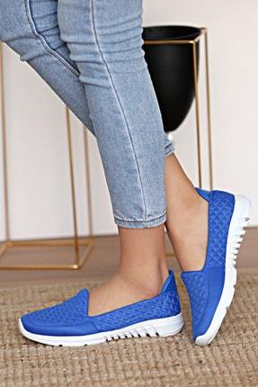 Pembe Potin Kadın Mavi Ayakkabı