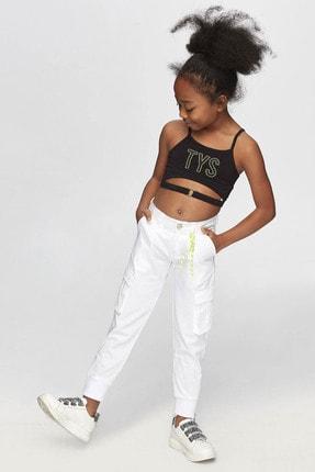 B&G Store Kız Çocuk Beyaz Pantolon