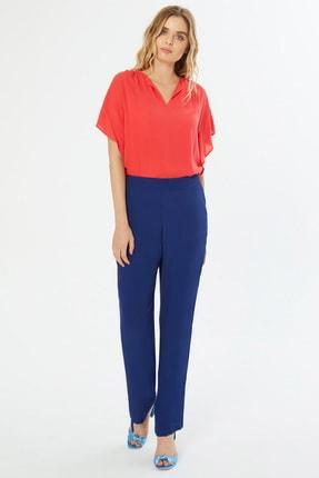 Naramaxx Kadın Mavi Boro Paça Mavi Pantolon 18Y11113Y488004-Mavı