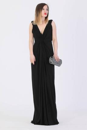 Günay Giyim Kadın Sıyah Askılı Abiye Elbise 11303200001201