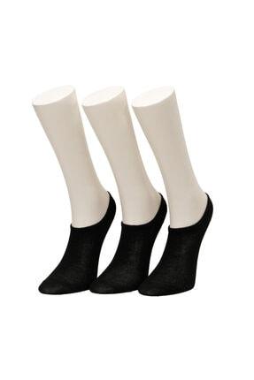 Missf Sneaker 3lu Patık-w Siyah Kadın Çorap