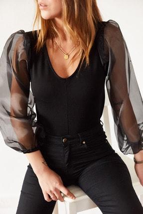 Xhan Kadın Siyah Organze Bluz 9kxk2-43216-02