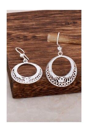 Sümer Telkari Halka Tasarım Telkari Gümüş Küpe 4620