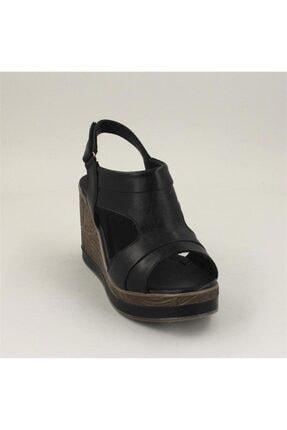 Venüs Kadın Siyah Sandalet 2015701y