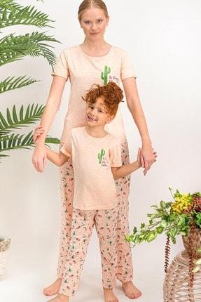 Arnetta Kısa Kol Uzun Pantolon Pijama Takımı (anne Kız Kombin Yapılabilir)