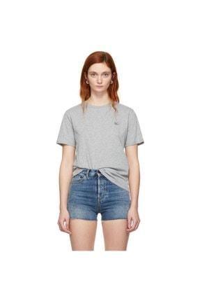 Alexander McQueen Mcq Sıfır Yaka Gri Uniseks T-shirt