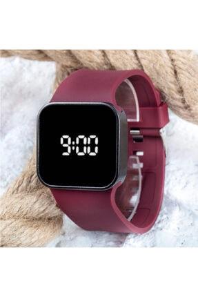 Spectrum Watch Touch Matte Bordo Dokunmatik Dijital Led Unisex Kol Saati St-303683