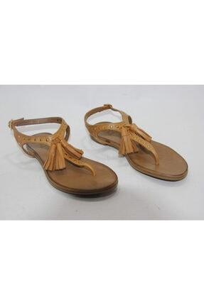 İnci Kadın Hardal 38 Numara Hakiki Deri Sandalet