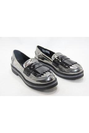 İnci Kadın Gümüş 38 Numara Hakiki Deri Klasik Ayakkabı