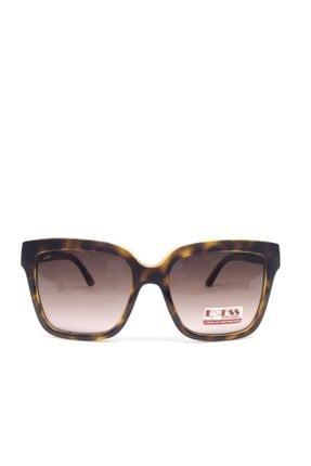 Exess Kadın Kahverengi Desenli Güneş Gözlüğü