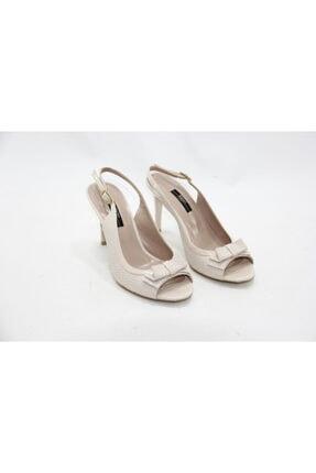 İnci Kadın Krem 36 Numara Hakiki Deri Topuklu Ayakkabı