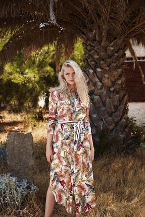 PENYE MOOD Kadın Bej Desenli Elbise 8715