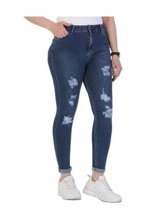 Günay Giyim Kadın Mavi Kot Pantolon 04213100009902