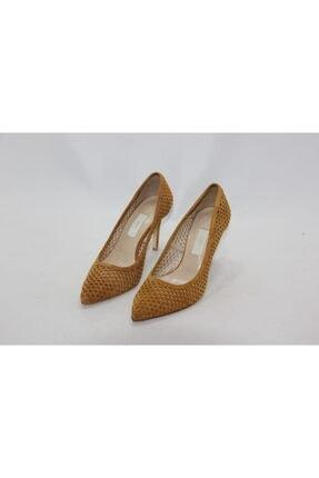 İnci Kadın Hardal  37 Numara Hakiki Deri Topuklu Ayakkabı