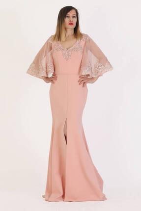 Günay Giyim Cordelia Abiye Elbise 4377 Kısa Kol