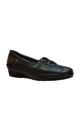 Forelli 26217-h Kadın Siyah Hallüx Deri Ayakkabı