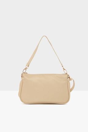 Bagmori Krem Kadın Mini Baget Çanta M000004617