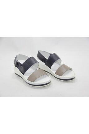 İnci Kadın Beyaz 36 Numara Hakiki Deri Sandalet