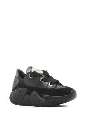 İlvi Kadın Siyah Süet Spor Ayakkabı