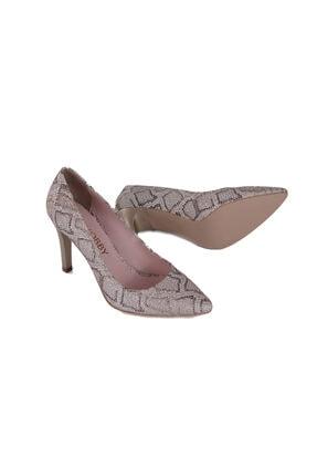 Hobby Kadın Vizon Yılan Stiletto Ayakkabı 678
