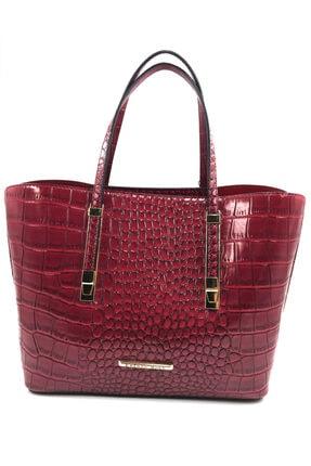 Kriste Bell Kırmızı Kroko Baskı Çanta