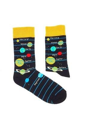 Köstebek Solar Sistem Unisex Çorap