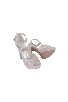 Hobby Beyaz Abiye Kadın Ayakkabı 1045