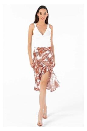 Tiffany Y15048 Palmıye Desen Takım Etek