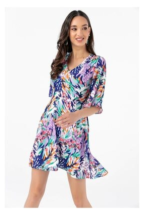 Tiffany A0282 V Yaka Bodrum Elbise