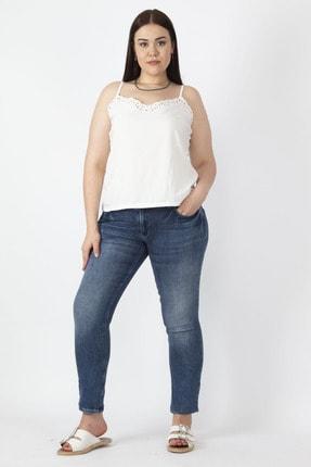 Şans Kadın Lacivert 5 Cepli Likralı Kot Pantolon 65N16713