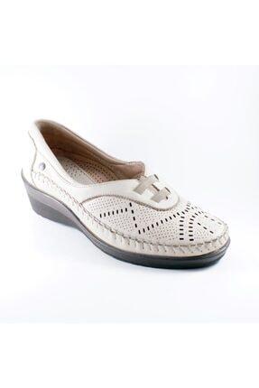 Forelli Kadın Bej   Deri Ortopedi  Ayakkabı 26214