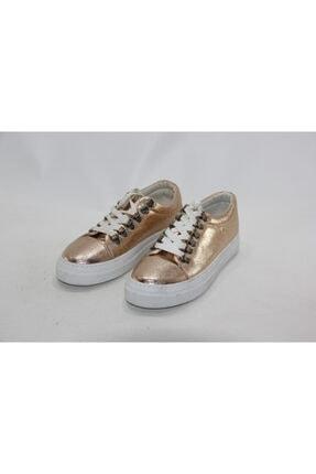 İnci Kadın Gold  Hakiki Deri Sneaker Ayakkabı