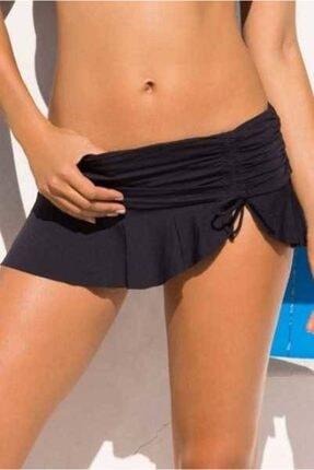 Angelsin Kadın Siyah Etekli Bikini - Ms41251