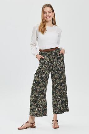 Sitare Hasır Kemerli Çıtır Desenli Pantolon 20y189-1