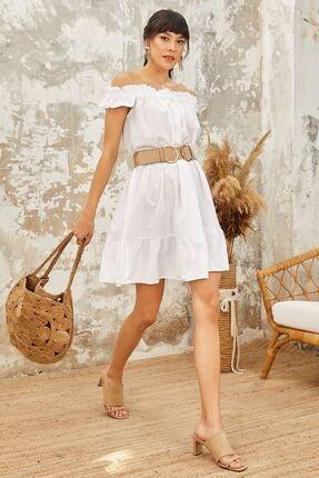 Mispacoz Es158 Elbise Beyaz