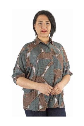 Günay Giyim Kadın Desenli Gömlek 55203200001850