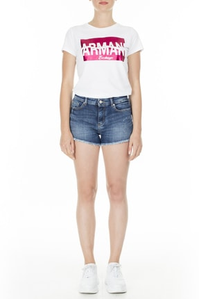 Armani Kadın Mavi  Short Jeans Short 3hyj59 Y2nez 1500