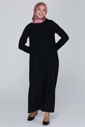 Armine Biye Detaylı Ferace Siyah 9k5001
