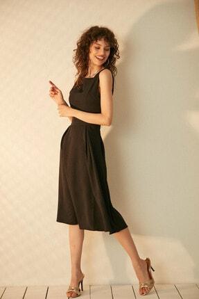 Morpile Kadın Siyah Sıfır Kol Elbise