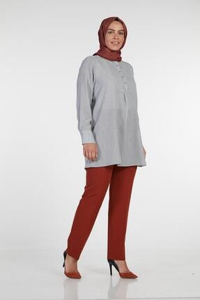 Sitare Kadın Kiremit Koyu Zoom Battal Lastikli Pantolon 19Y4010 19YFUATPN4010
