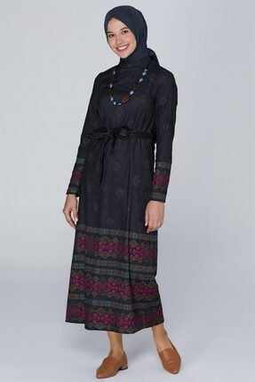 Armine Kolye Aksesuarlı Elbise Siyah 9k9836