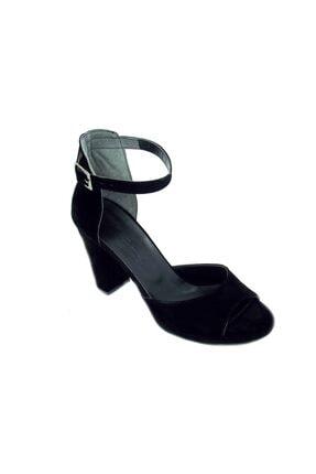 Punto Kadın Siyah Kalın Topuk Süet Ayakkabı 446005