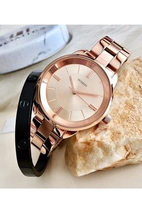Homies Kadın Kol Saati Çelik + Bileklik