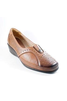 Forelli Kadın Taba Deri Ortopedi Ayakkabı 3568