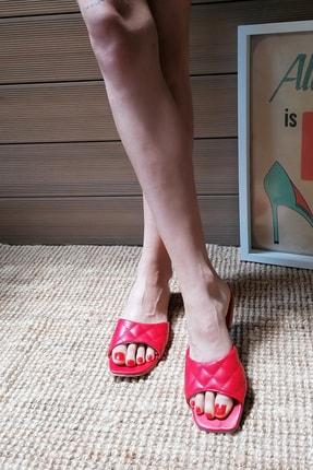 Ayakkabı Modası Kadın Kırmızı Terlik