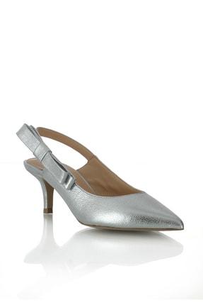 POLETTO 974 100 Krıstal Gumus R4146 Kadın Ayakkabı-(6 cm)